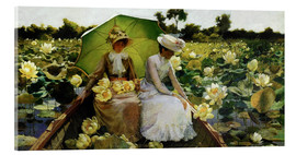 Acrylglasbild  Lotosblumen - Charles Courtney Curran
