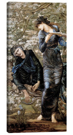 Leinwandbild  Die Verzauberung Merlins - Edward Burne-Jones