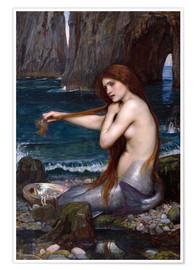 Premium-Poster  Die Meerjungfrau - John William Waterhouse