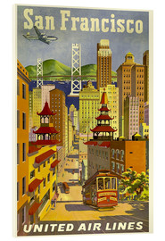 Acrylglasbild  San Francisco United Airlines - Travel Collection