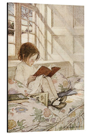 Alu-Dibond  Bilderbücher im Winter - Jessie Willcox Smith