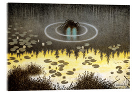 Acrylglasbild  Nøkken, The Monster of the Lake - Theodor Kittelsen
