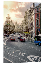 Acrylglasbild  Gran Via in Madrid - Stefan Becker