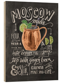 Holzbild  Moscow Mule Rezept (Englisch) - Lily & Val