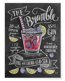Poster  Brombeer-Cocktail - Lily & Val