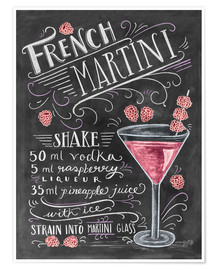Poster  French Martini Rezept - Lily & Val