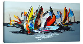 Leinwandbild  Abstract sailing - Theheartofart Gena