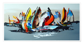 Poster  Abstract sailing - Theheartofart Gena