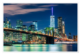 Poster  New York Skyline und Brooklyn Bridge - Sascha Kilmer