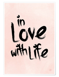 Premium-Poster in love with life