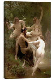 Leinwandbild  Nymphen und Satyr - William Adolphe Bouguereau