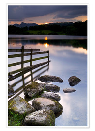 Premium-Poster  Loughrigg Tarn in England - Jeremy Lightfoot
