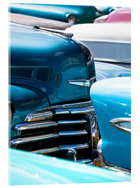 Acrylglasbild  Vintage American cars parked on a street in Havana Centro, Havana, Cuba, West Indies, Central Americ - Lee Frost