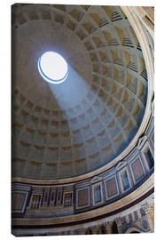 Leinwandbild  A shaft of light through the dome of the Pantheon, UNESCO World Heritage Site, Rome, Lazio, Italy, E - Martin Child