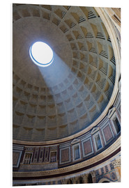 Hartschaumbild  A shaft of light through the dome of the Pantheon, UNESCO World Heritage Site, Rome, Lazio, Italy, E - Martin Child