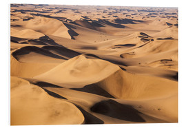 Hartschaumbild  Aerial view of the dunes of the Namib Desert, Namibia, Africa - Roberto Sysa Moiola