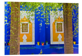 Hartschaumbild  Fenster in den Majorelle Gardens - Matthew Williams-Ellis