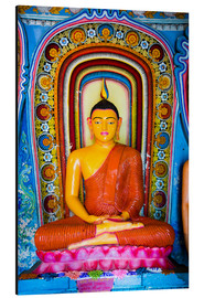 Alubild  Colourful Buddha statue at Isurumuniya Vihara, Anuradhapura, UNESCO World Heritage Site, Sri Lanka,A - Matthew Williams-Ellis