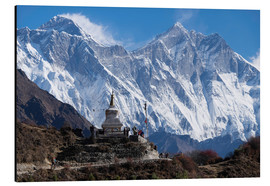 Alubild  Tenzing Norgye Stupa & Mount Everest - John Woodworth