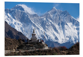 Hartschaumbild  Tenzing Norgye Stupa & Mount Everest - John Woodworth
