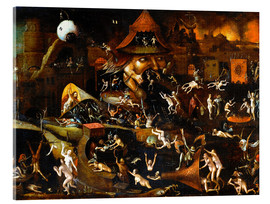 Acrylglasbild  The harrowing of hell - Hieronymus Bosch