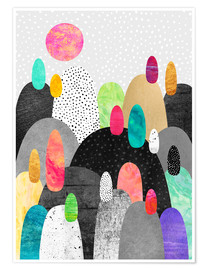 Poster  Little Land of Pebbles - Elisabeth Fredriksson