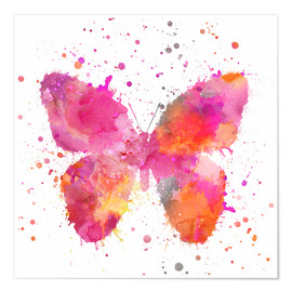 Premium-Poster  Artsy Butterfly - Andrea Haase