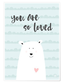 Poster  You are so loved - Mint - m.belle