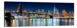 Alubild  New York City Skyline bei Nacht (Panorama) - Sascha Kilmer