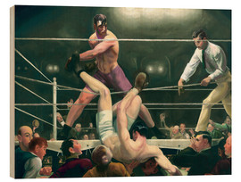 Holzbild  Dempsey und Firpo - George Wesley Bellows