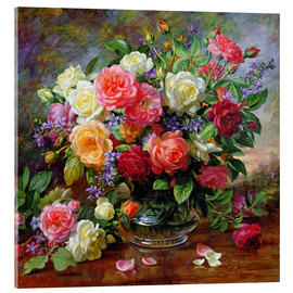 Acrylglasbild  Rosen - die Perfektion des Sommers - Albert Williams