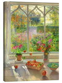 Leinwandbild  Blick in den Garten - Timothy Easton