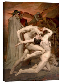 Leinwandbild  Dante und Vergil in der Hölle - William Adolphe Bouguereau