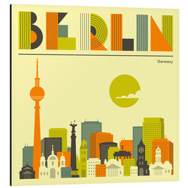 Alubild  Berlin Skyline - Jazzberry Blue