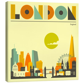 Leinwandbild  London Skyline - Jazzberry Blue