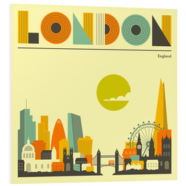 Hartschaumbild  London Skyline - Jazzberry Blue