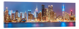 Acrylglasbild  New York Neon Colors Skyline - Sascha Kilmer