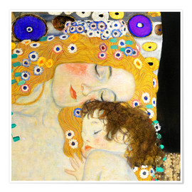 Poster  Mutter mit Kind - Gustav Klimt