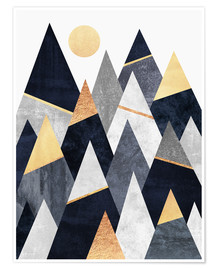Poster  Fancy Mountains - Elisabeth Fredriksson