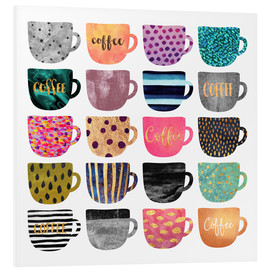 Hartschaumbild  Pretty Coffee Cups - Elisabeth Fredriksson