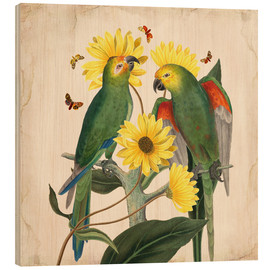 Holzbild  Oh My Parrot II - Mandy Reinmuth