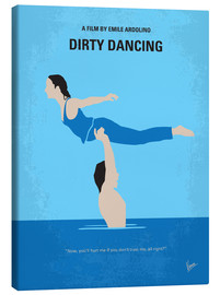 Leinwandbild  No298 My Dirty Dancing minimal movie poster - chungkong