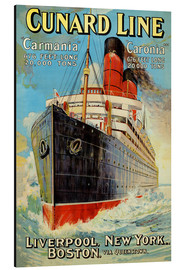 Alubild  Cunard Line ? Liverpool, New York, Boston - Edward Wright