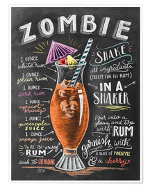 Poster  Zombie Cocktail - Lily & Val