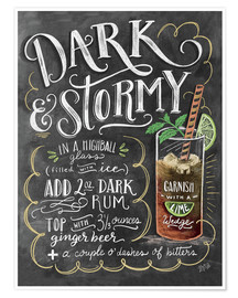 Poster  Dark & Stormy Cocktail - Lily & Val