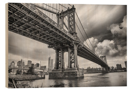 Holzbild  Die Manhattan Bridge