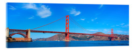 Acrylglasbild  Panorama-Blick auf Golden Gate Bridge