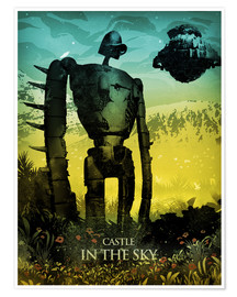 Poster  Castle in the Sky  - Albert Cagnef