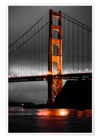 Premium-Poster Golden Gate