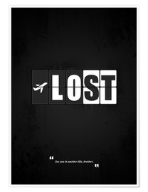 Premium-Poster  Lost - Minimal TV Serie Alternative - HDMI2K